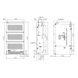 Patchcord STP linka Kat.6 5,0m szary